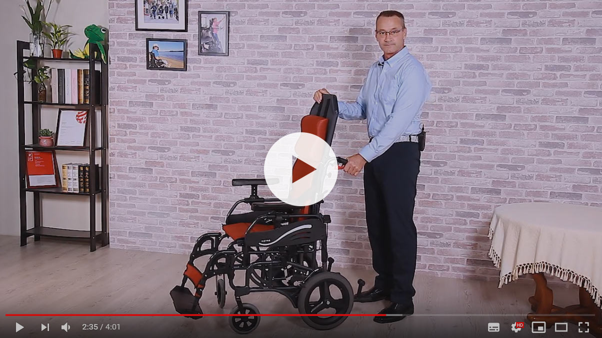 How to prepare the VIP 515 tilt-in-space wheelchair