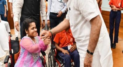 Raksha Bandhan with PM Modi