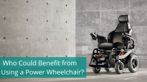 power wheelchair in show room