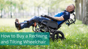 user in a reclined wheelchair