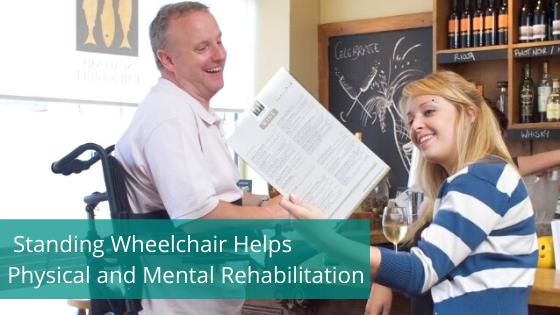Blog banner, standing wheelchair user