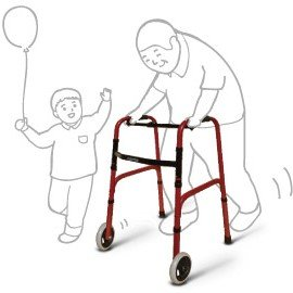 elderly animation using wheeled walker
