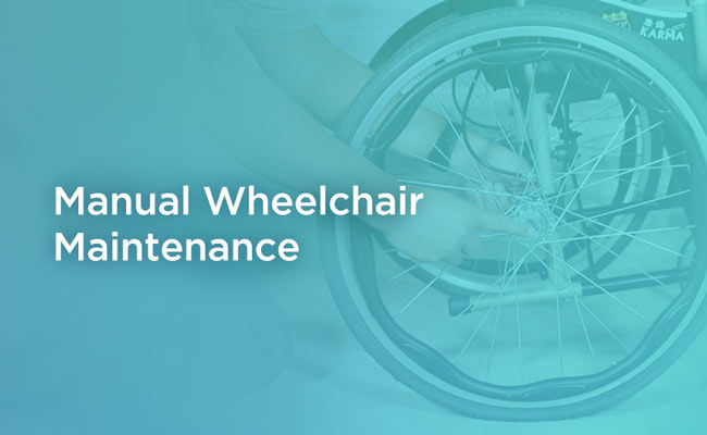 Manual Wheelchair Maintenance