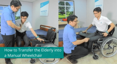 How to Transfer the Elderly into a Manual Wheelchair